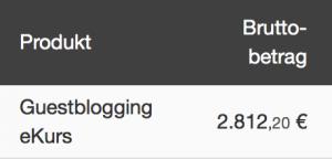 Geld verdienen mit Bloggen - Rechenbeispiel für Online Kurs
