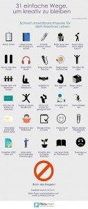 31 Wege um kreativ zu bleiben Tipps Schreiben bloggen