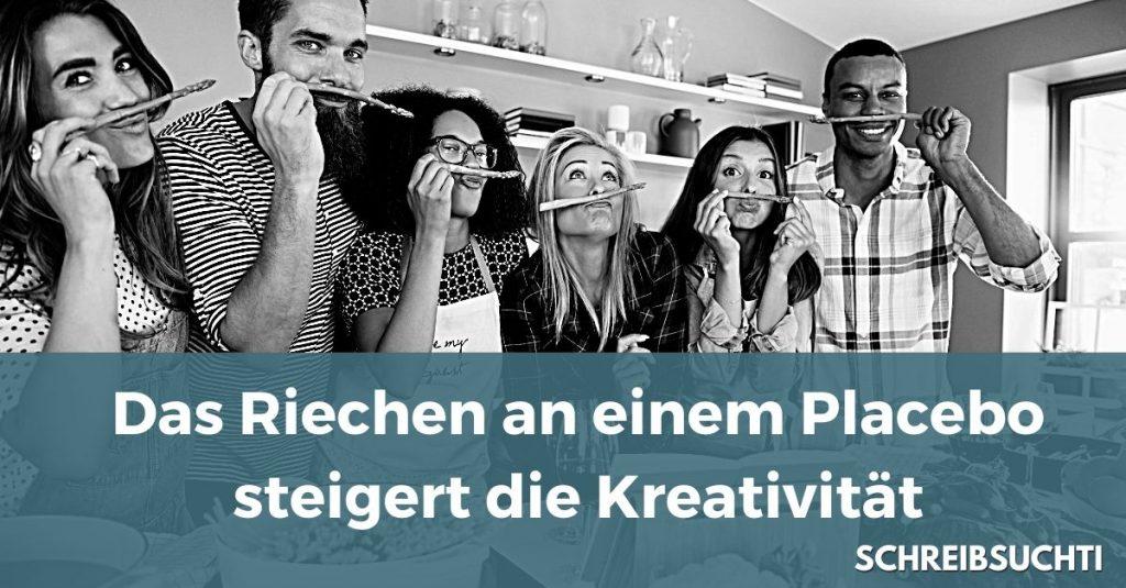 Kreativität: Das Riechen an einem Placebo steigert die Kreativität