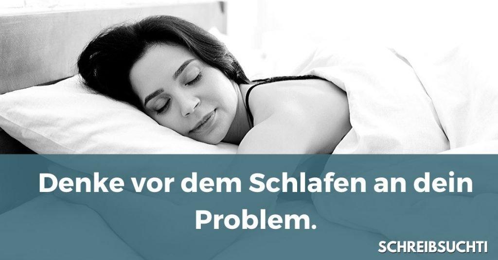 Kreativität: Denk vor dem Schlafen an dein Problem
