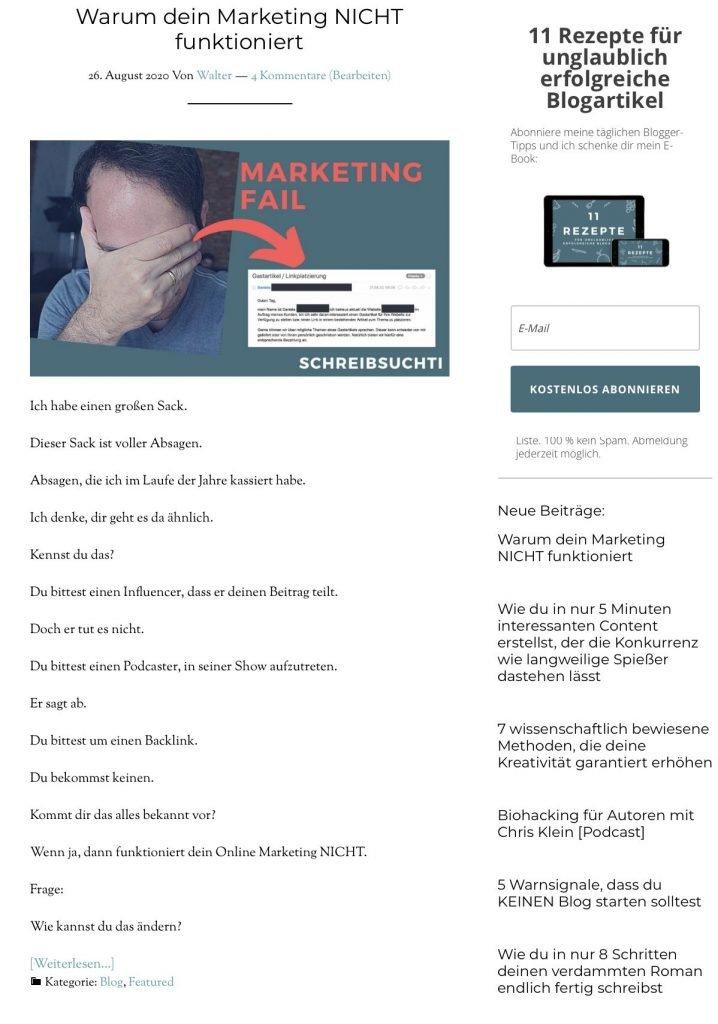 Blog Seite erstellen, um Blogartikel anzuzeigen