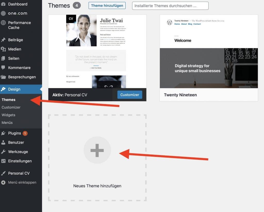 Neues Design für deinen Blog erstellen
