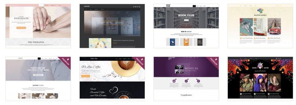 Design auswählen, um deinen Blog zu erstellen