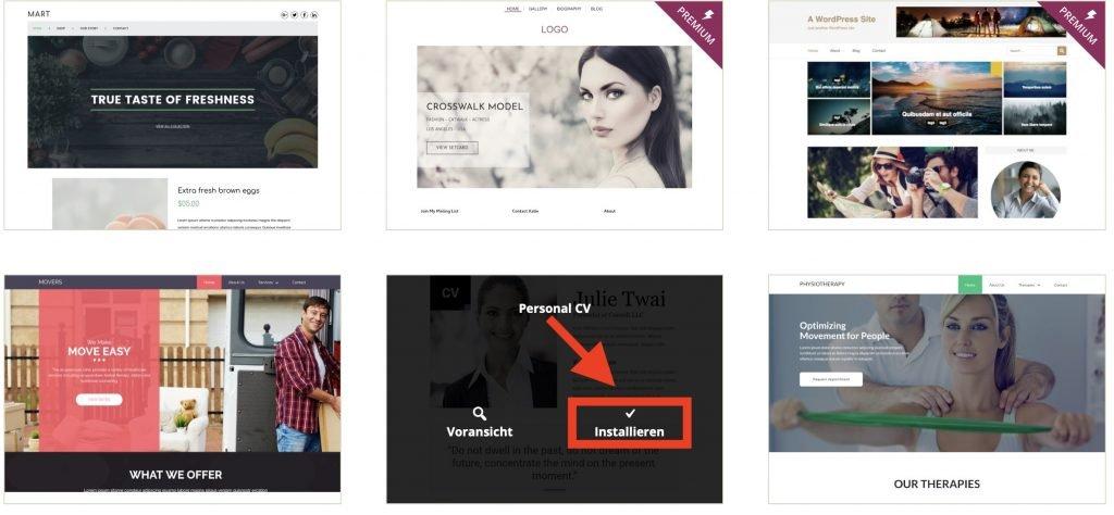 Wenn du deinen Blog erstellst, dann installiere ein Theme