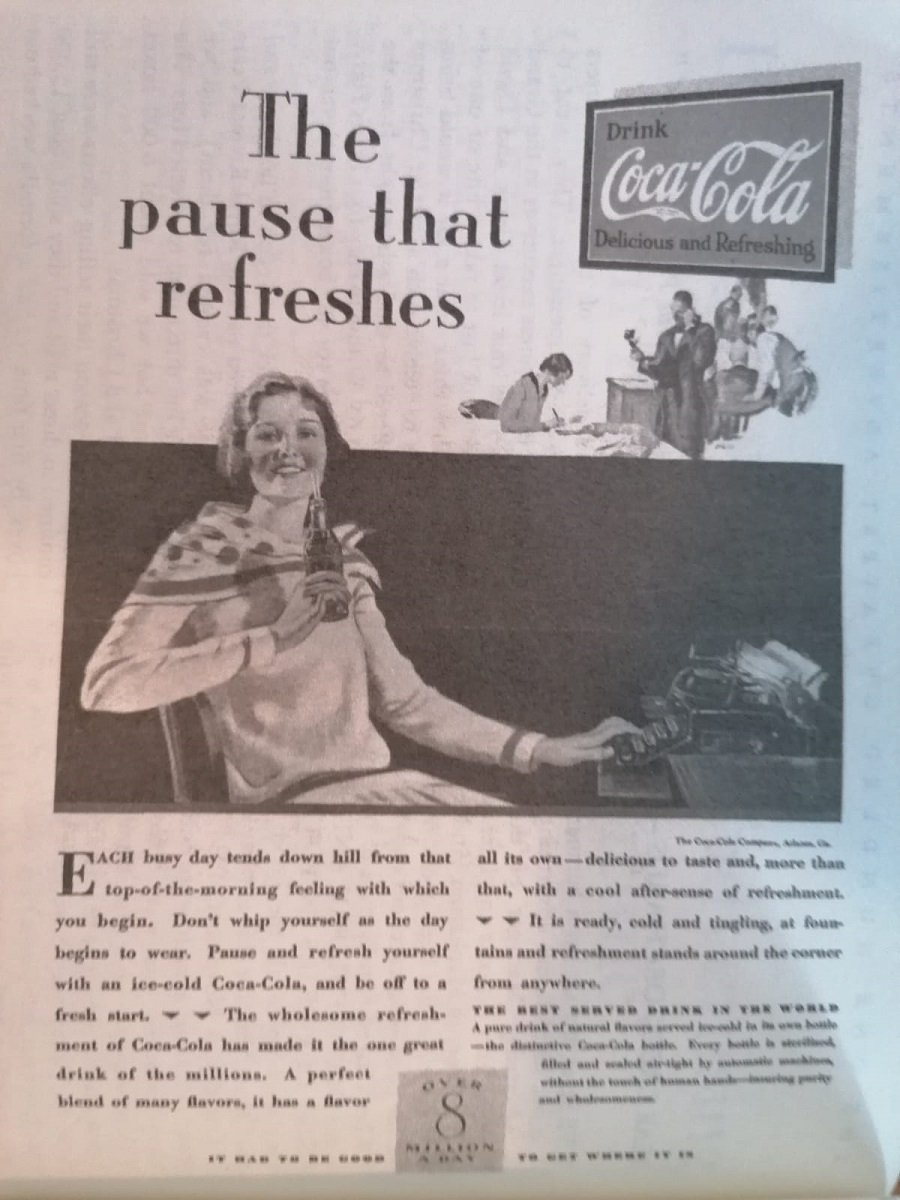 the pause that refreshes coke