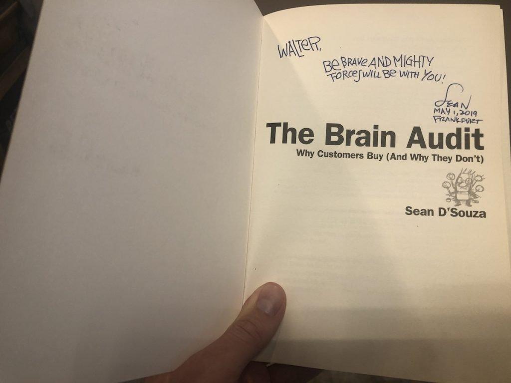 Signiertes Marketing Buch